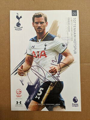 Tottenham Hotspur 2016/17 Program Signed By Victor Wanyama