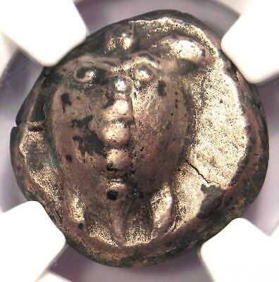 Greece Aegina AR Stater Turtle Coin 480-457 BC - Certified NGC XF Condition!