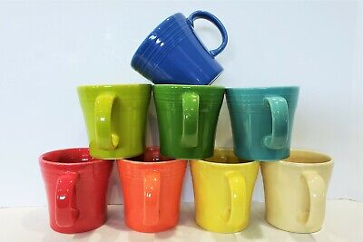 Fiesta Fiestaware, New 2nds, Lot of 8 Tapered Mugs Coffee Cups, Mixed Color Set