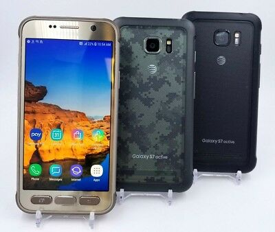 Samsung Galaxy S7 Active G891A 32GB - (GSM Unlocked) - Shadow Stock - Clean