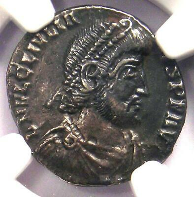 Ancient Roman Julian II AR Siliqua Rome Coin 360-363 AD. Certified NGC Choice XF