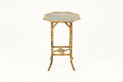 Antique Victorian Octagonal Two-Tier Bamboo Lamp Side Table, Scotland 1870 B1763