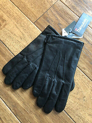 Jos A Bank Men/'s Thinsulate-Lined Lambskin Leather Glove Winter Black M L XL