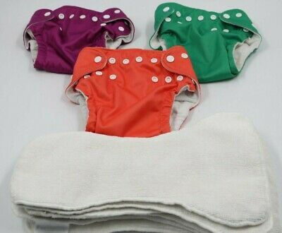 Fuzzi Bunz Baby Infant Cloth Reusable Nappies Diapers & Liners Lot 9