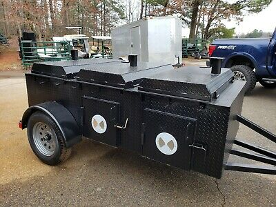 Pro Chicken Flipper Cooker Grill BBQ Smoker Trailer Food Truck Catering Business