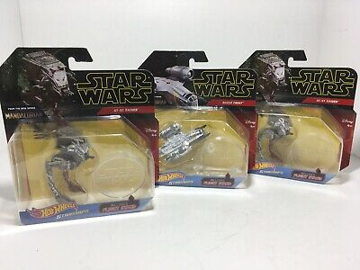 Hot Wheels Starships The Mandalorian Star Wars Razor Crest / At-St Raider Lot (3
