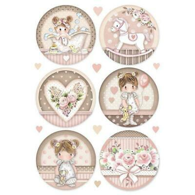 Rice Paper - Decoupage - Stamperia - 1 x A4 Size Sheet - Little Girl
