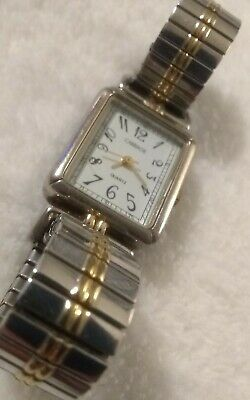 Womens Carriage by Timex Watch w Dual-Tone Stretch Band & Fresh Battery!
