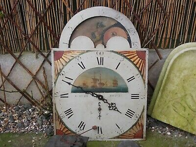 Grandfather Clock Face & Works