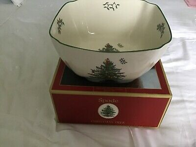 "Spode Christmas Tree Large 10"" Square Bowl"