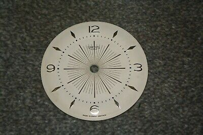 "Vintage Smiths 41/4"" small mantel clock dial/face for spares/repairs/parts"