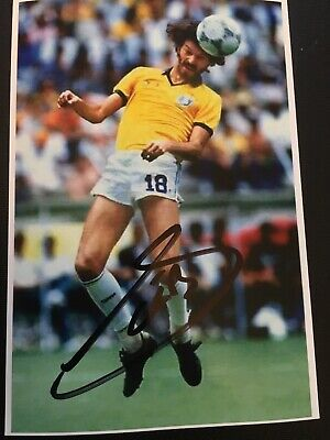 Socrates Hand Signed Autograph Photo - Brazil Footballer - Original Signed