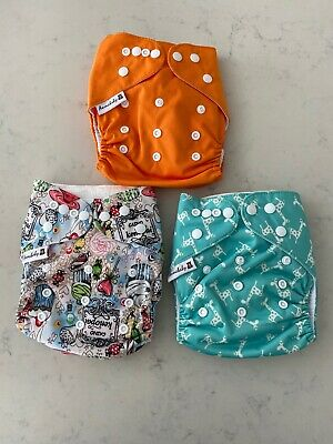 Anmababy 3 Pack Adjustable Size Waterproof Washable Pocket Cloth Diapers Inserts