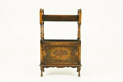Antique Vintage Arts & Crafts Bookstand, Magazine Rack, Scotland 1920 B1656