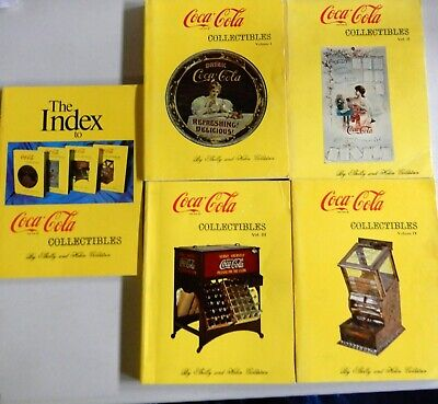 4 Volumes Plus Index Set of Coca-Cola Collectibles by Shelly & Helen Goldstein
