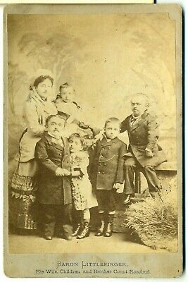 Midget Cab- Baron Littlefinger and Family- San Francisco- Mrs. Tom Thumb