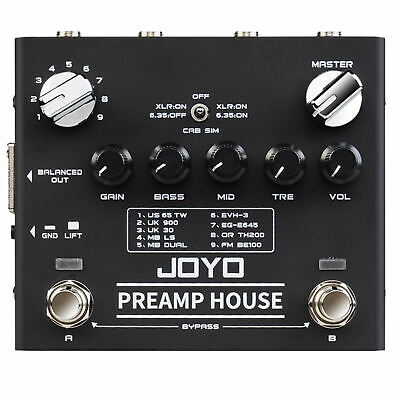 JOYO R series R-15 Preamp House 9 Guitar Amp Sims Dual Channel New Release