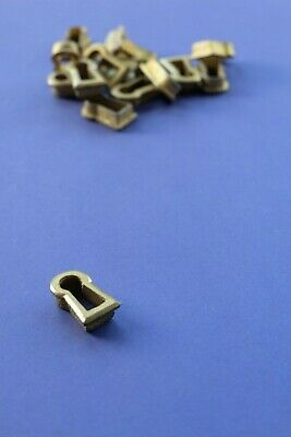 "Cast brass cabinet keyhole furniture drawer thread escutcheon insert 1"" [ES4]"