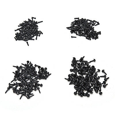 100X Black Plastic Safety Eyes Toy for Doll Animal Making Craft