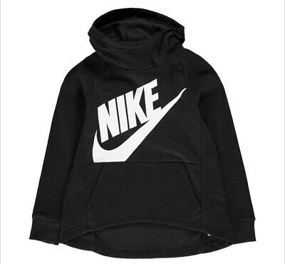 Nike Girls Size S Hoody Black Jumper Age 7 8 9 Top Long Sleeve School Top New