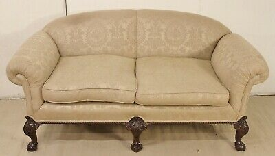 Antique Mahogany Chippendale Style Settee c.1900