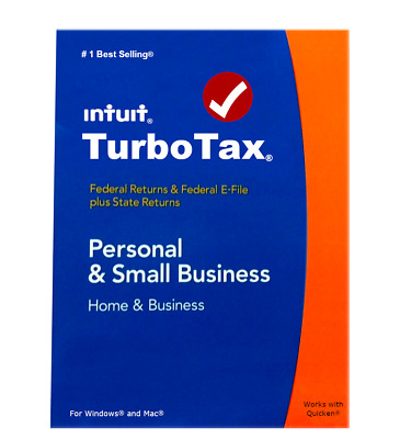 2014 TurboTax Home & Business federal e-file & state return for PC & Mac OS CD