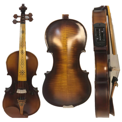 electric & acoustic violin4/4,maple wood Spruce wood Powerful Sound #7640