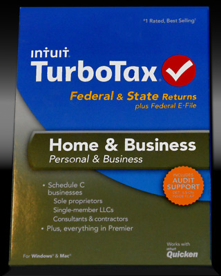 2013 TurboTax Home & Business federal e-file & state return for PC & Mac OS CD