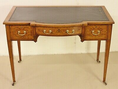 Antique Inlaid Satinwood Writing Table by Maple and Co. c.1895