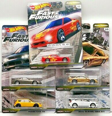 Hot Wheels 2020 Fast & Furious Premium Fast Tuner Set 5 Car Nissan Honda Mazda