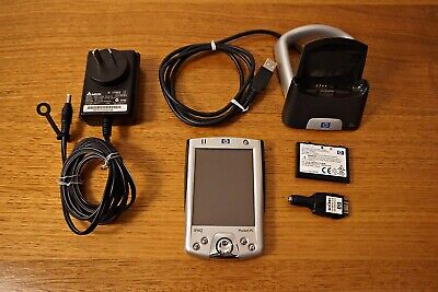HP iPAQ Pocket PC 2200 With Stand, Power supply and adaptor, cabling