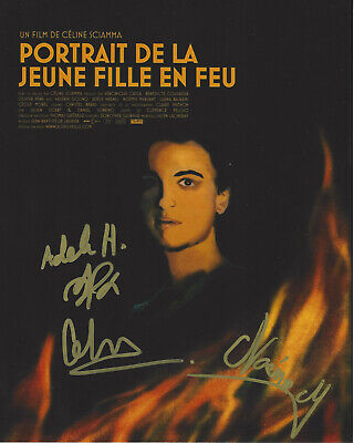 PORTRAIT OF A LADY ON FIRE CAST SIGNED AUTOGRAPH 8x10 PHOTO 2 COA FRENCH FILM X3