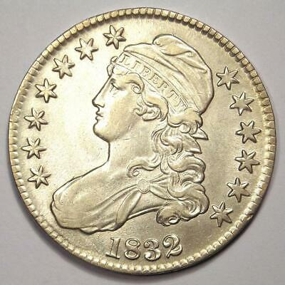 1832 Capped Bust Half Dollar 50C - Choice AU Details - Rare Date Coin!