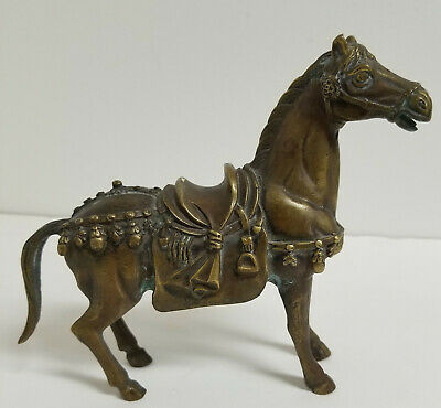 Antique Vintage Chinese Bronze Horse Tang Style 20th Century Decorative