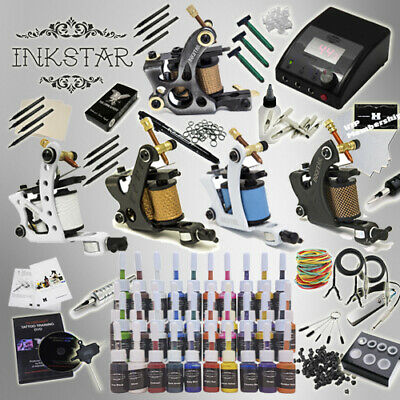 Complete Tattoo Kit Professional Inkstar 5 Machine Ace Set GUN 40 Color Ink