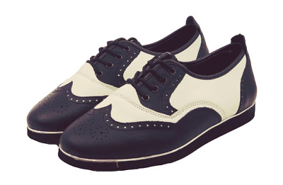 Ladies 1950s and 1960s premium leather rock and roll dance shoes