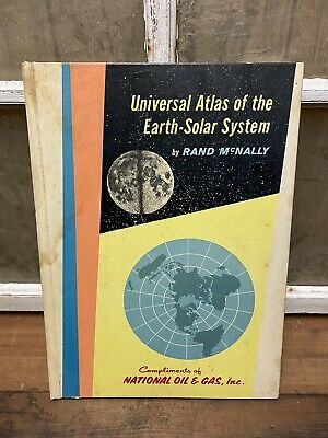 Vintage National Oil & Gas Atlas Earth Solar System 1959 Advertising Promotional