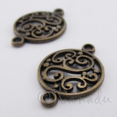 20 Or 50PCs Mandala Connectors 20mm Antiqued Silver Plated Charms C3330-10