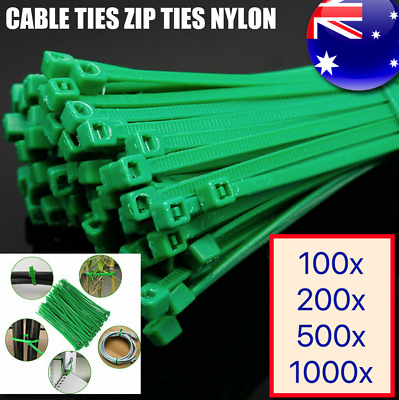 Cable Ties Zip Tie Garden Nylon UV Stabilised Outdoor Bulk Green Cable Home PACK