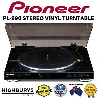 Pioneer PL-990 Vinyl Turntable Stereo Vinyl Player 33-45 rpm Hands-off Automatic