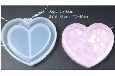 Brand New Heart Silicon Shaker Mold For Uv And Epoxy Resin Crafts