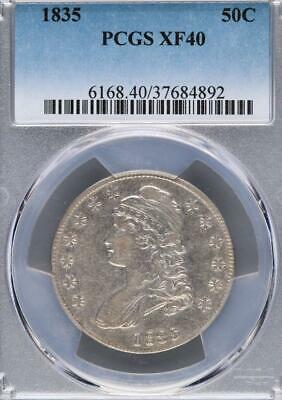 1835 Capped Bust Silver Half Dollar PCGS XF 40  *DoubleJCoins* - 3006-43