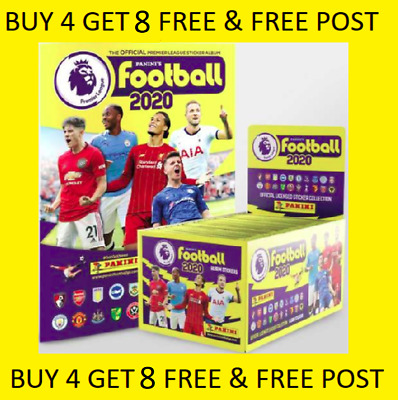 Panini Football 2020 Premier League Sticker BUY 4 GET 8 FREE SHINYS FREE POST