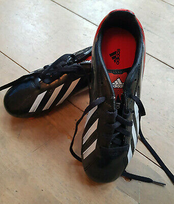 BNWOT Adidas F10 Black/White/Red Football Boots (moulds) Size 3.5