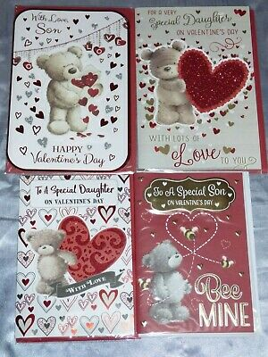 Valentine Card Son Or Daughter Prelude Trad Cute Design Cute From Mum Dad
