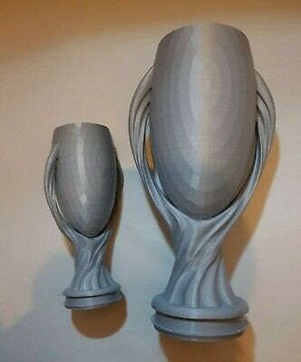 Football trophy Silver Type 5 20cm tall or 30cm tall plastic various sizes