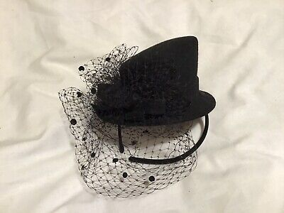 Black Hair fascinator headband Wedding Special Occasion