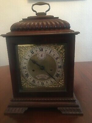 Mahogany bracket clock, fine quality English double fusée movement