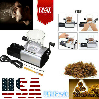 110V Electric Cigarette Rolling Machine Automatic Tobacco Roller Injector Set US
