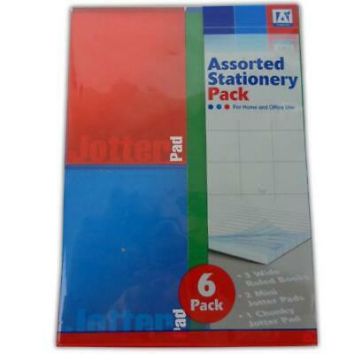 6 Pack Exercise Set - School Wide Ruled Pages Office Stationery Cheap New Kids